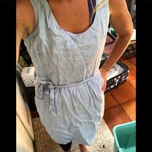 Ann Taylor loft blue denim dress